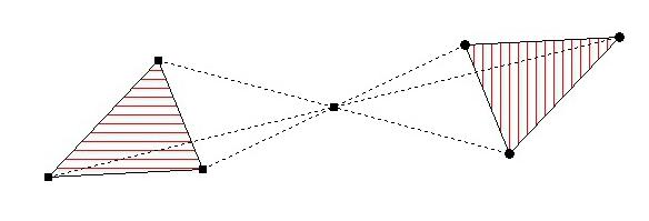 Verschieben sie auch den spiegelpunkt und das dreieck und beachten sie